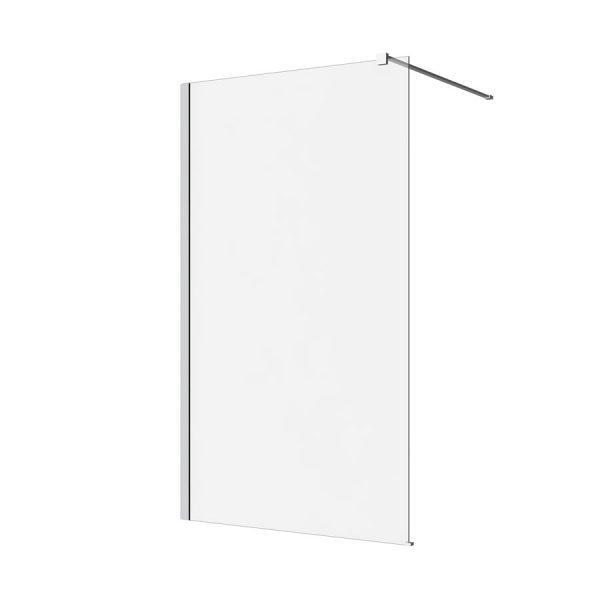 M series clear web 600x600 shower screen