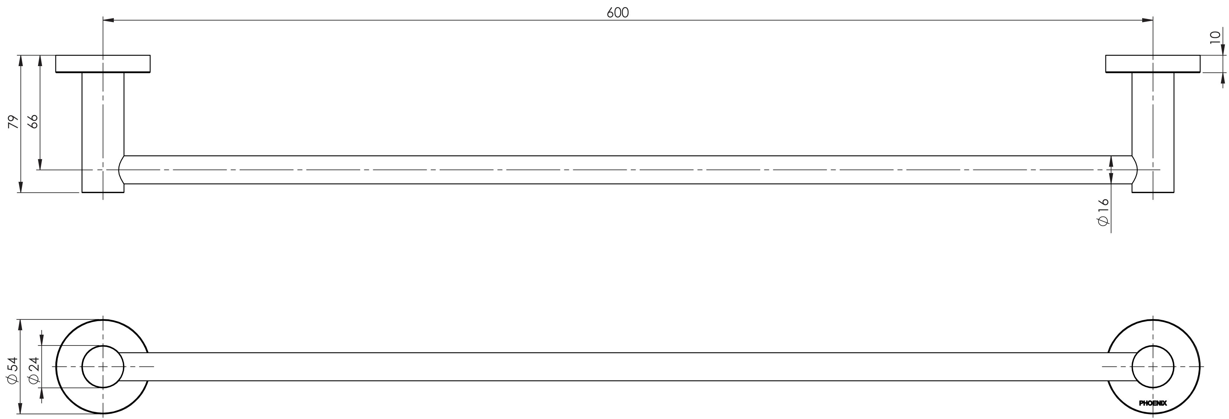 Radii Single 600 Rail specs