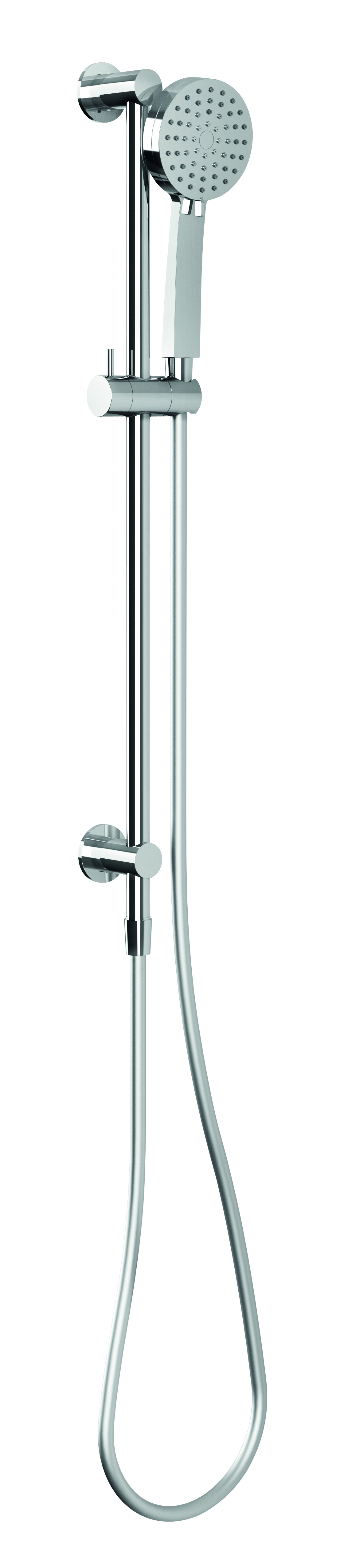 VS687 CHR Vivid Slimline Water Thru Rail Shower 1