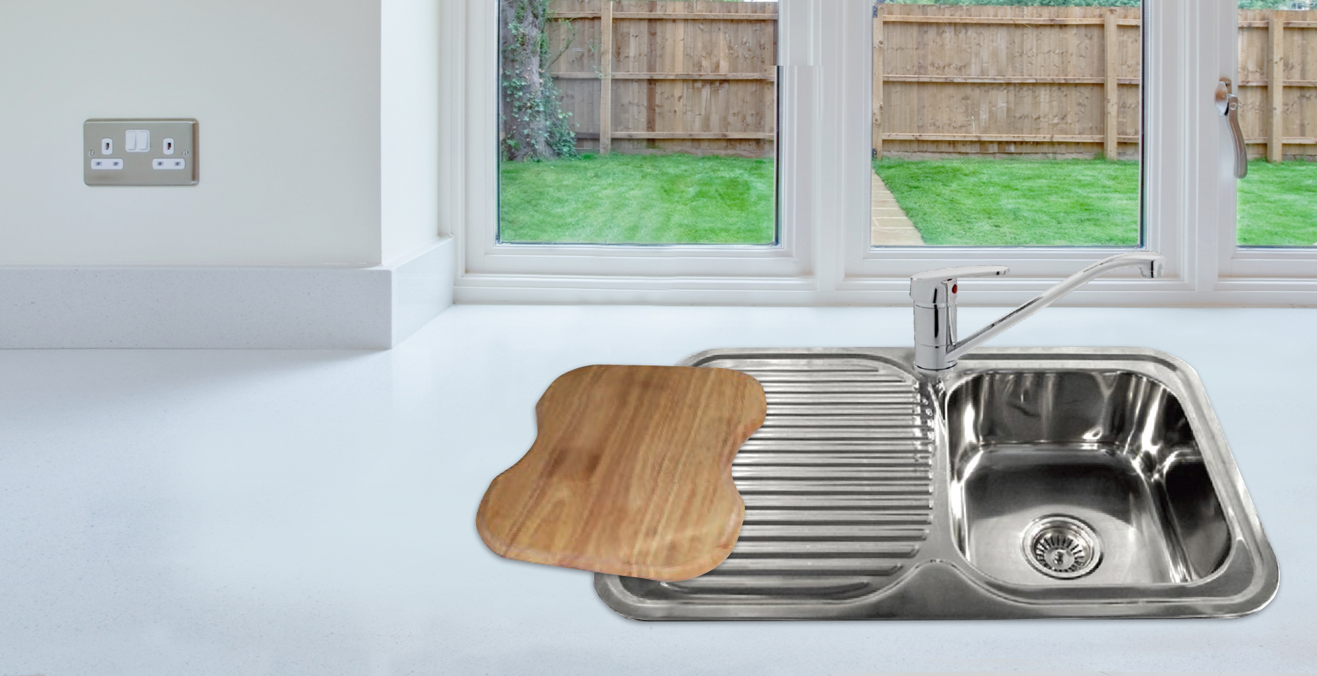 Kitchen Sink with Mixer & Chopping Board Package