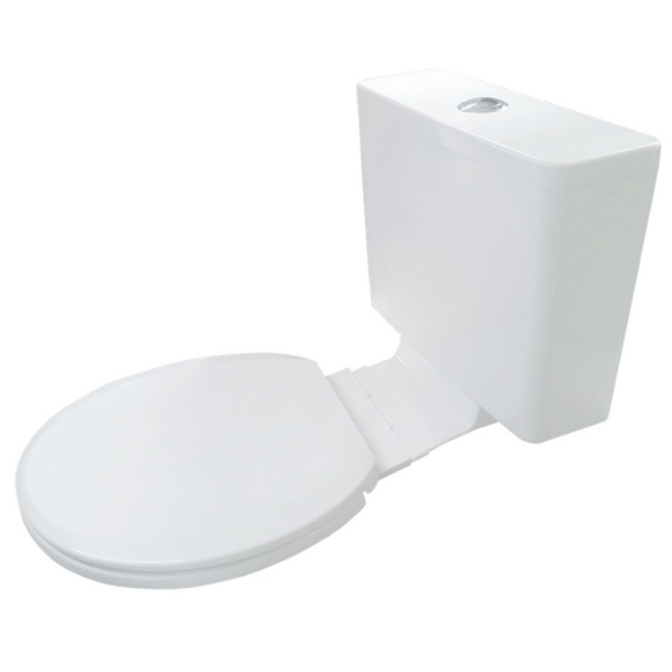 Everhard kuga white plastic link cistern soft close seat
