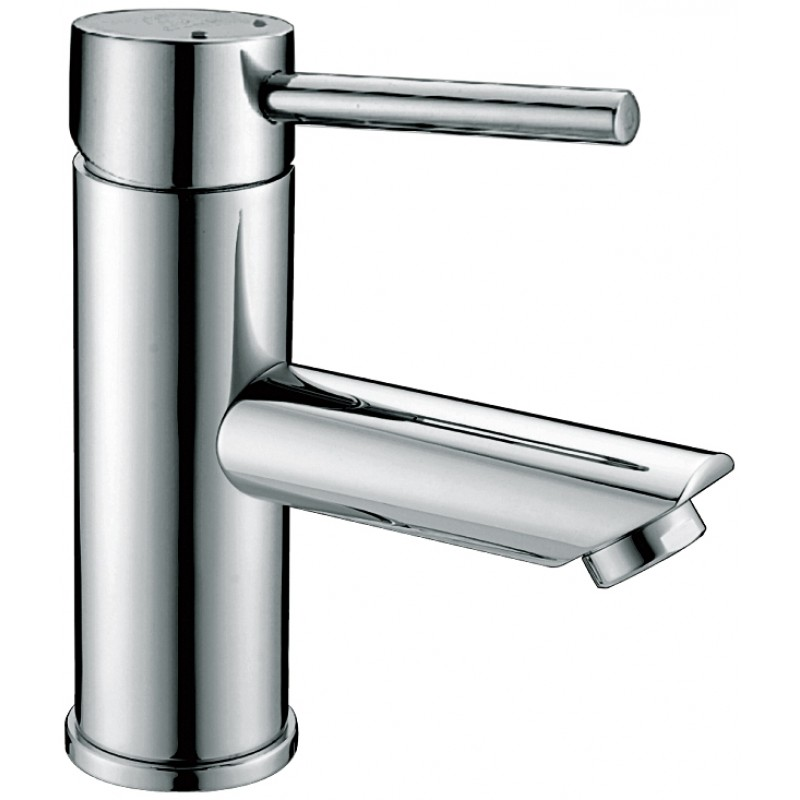 Round pin basin mixer
