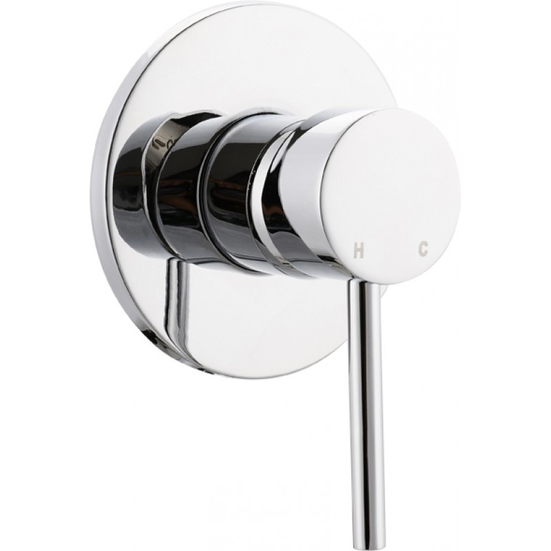 Round pin shower bath mixer